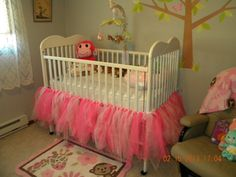 Totally making this for The Pistol! Tutu Crib Skirt by WildflowrCreations on Etsy, $50.00