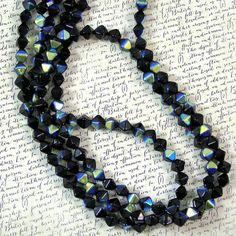 Black AB Bicone 6mm Glass Beads 50% off qty 150 by XOSupplies