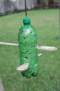 Recycled bird feeder.