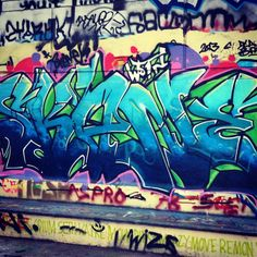 #StreetArt #UrbanArt #Graffiti - Skatepark de Bercy, Paris - Photos by My Urban Island