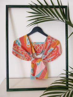 Koinobori silk scarf (front) - by Le TANUKI www.etsy.com/shop/LeTanuki