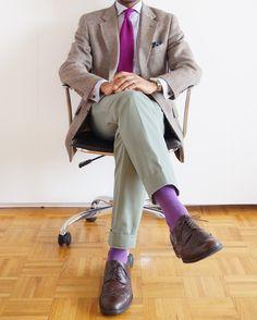 Purple, Purple  Purple socks.