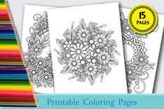 Mandala Coloring Pages, Adult Coloring Pages, Colouring Techniques, My Cup Of Tea, Vector Format, Printable Coloring Pages, Different Colors, How To Draw Hands, Printables