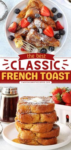 Once you learn how to make the Classic French Toast Recipe, you'll be a fan for life! This simple recipe for breakfast is perfect for lazy mornings with the fam. Topping ideas included. Pin this breakfast recipe.