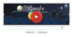 Google Doodle celebrates composer Claude Debussy with romantic 'Clair de lune' scene.