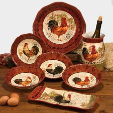 Tuscan Dinnerware Sets | Tuscan Rooster Soup / Pasta Bowls, Set /4