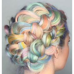 unicorn hair ❤ liked on Polyvore featuring hair