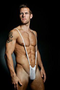 Porn gay Suspenders men