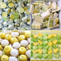 yellow + green plaid bridal shower: printables by Pink Piggy Design