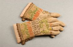 Knitted silk, 17th/18thC. The Worshipful Company of Glovers of London - The Glove Collection and its Catalogue
