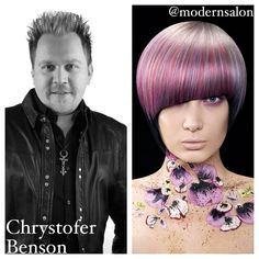 #NAHA2014 winner Chrystofer Benson for #Haircolor #purplehair
