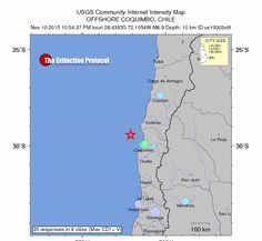 6.9 MAGNITUDE EARTHQUAKE STRIKES OFF THE COAST OF CHILE: SECOND STRONG QUAKE IN 4 DAYS