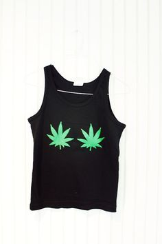 marijuana leaf tank top by UNIQUEONESHOP on Etsy