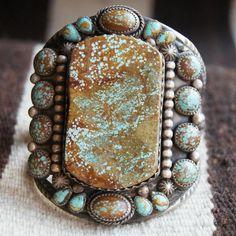 gregthorneturquoise:  American turquoise bracelet by Greg Thorne.