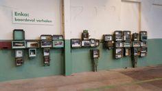 Experience center De Fietser, timeline Enka Ede, exhibition - by DST