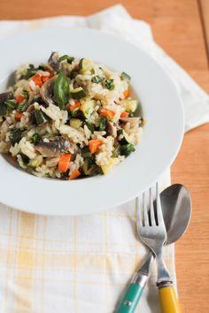 risotto aux légumes (vegan) - vegan vegetable risotto