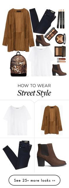 """""""street style for a fall day"""" by ecem1 on Polyvore featuring Zara, AG Adriano Goldschmied, Mi-Pac, Acne Studios and H&M"""