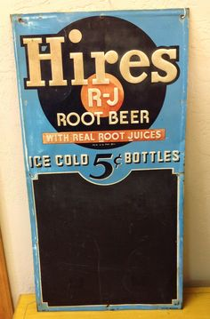 1940's Hires Root Beer Sign- check it out at vintagegallery.com