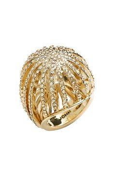 Swarovski crystal cocktail ring