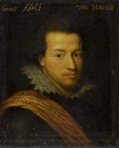 Workshop of Jan Anthonisz. van Ravesteyn, Portrait of Adolf (1586-1608), graaf van Nassau-Siegen, ca. 1609-1633 - Rijksmuseum Amsterdam (SK-A-535)