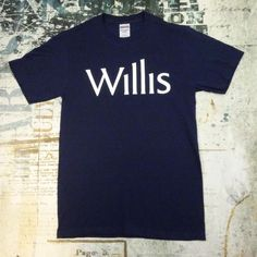 Jerzees Hevyweight Blend Cotton Blue Men's Size Small Willis Spell out T-shirt #JERZEES #GraphicTee