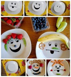 DIY Funny Face Plate ...my kids would love this!