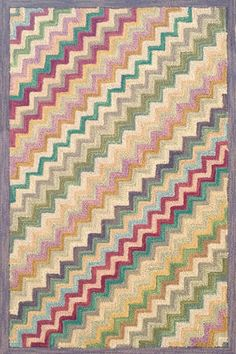 Dash & Albert- Steps Wool Hooked Rug