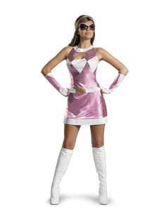 When I was little I was a pink power ranger. I thought the idea again would be awesome since I found the first 30 episodes of the show last week = )