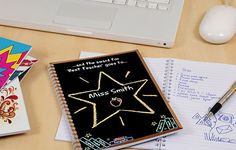 Reward all your teachers hard work throughout the year with this Personalized Best Teacher Notebook!