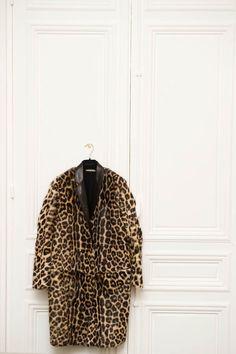 animal print coat
