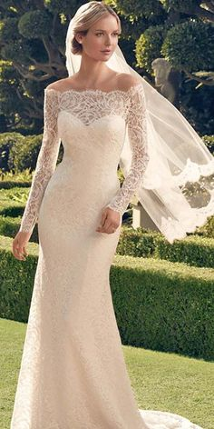 21 Lace Wedding Dresses That You Will Absolutely Love ❤ Get inspired with our lace wedding dresses gallery from famous designers, their romantic colour palette, and decorative lace. See more: http://www.weddingforward.com/lace-wedding-dresses/ #wedding #dress
