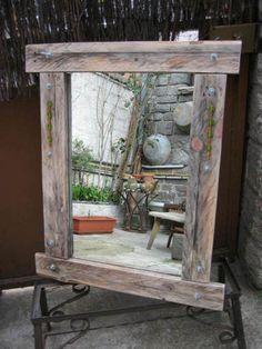 Plus de 1000 id es propos de miroir sur pinterest for Miroir bois de grange