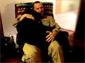 Sweet Dog Cries for Joy in His Soldier Daddy's Lap - The BEST Reunion :)