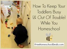 How to Keep Toddlers Busy While Homeschooling