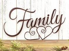 I have to get this Family Sign, Love!! Family Metal Sign | Metal Wall Art | Family Sign | Metal Wall Decor | Hearts | Family Wall Art | Wall Hanging | Metal Sign | Wall Art | Sign #ad