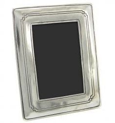 Rectangular photo frame made of pewter. #madeinitaly #artigianato #peltro #pewter