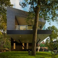 Todd Saunders' self-designed home is raised  on stilts to cover outdoor areas