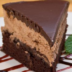 Triple Chocolate Mousse Cake #food #yummy #delicious