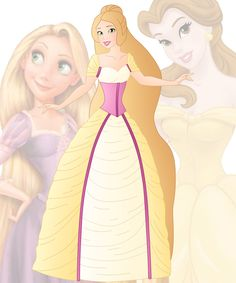 disney fusion: Belle and Rapunzel by Willemijn1991.deviantart.com on @DeviantArt