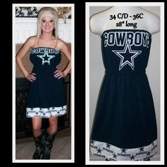 Dallas Cowboys Game Day Tee Shirt Dress $55
