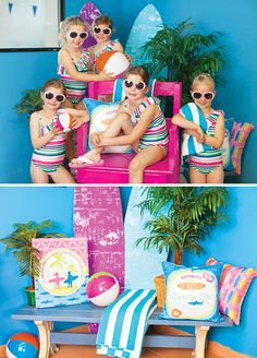 Splashy & Colorful Surfer Girl Birthday Party