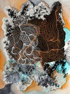 "Saatchi Art Artist Marijah Bac Cam; Drawing, ""Organic Mountain XIX.II.XV.I"" #art"