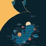 Universe inside  ilustrao de Federica Bordoni federicabordoni ilustracao illustration art arte followthecolours artattack artattackftc universeinside