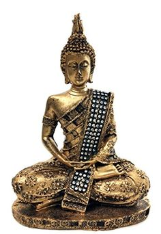 bombayjewel Thai Buddha Meditating Peace Harmony Statue 8H >>> Be sure to check out this awesome product.