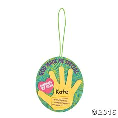 God Made Me Special Handprint Ornament Craft Kit - OrientalTrading.com