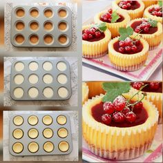 Baking Recipes, Cake Recipes, Dessert Recipes, Mini Tart, Mini Cheesecakes, Summer Desserts, Catering, Food And Drink, Sweets