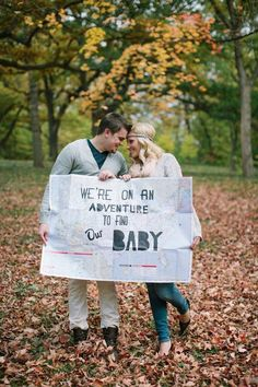 Amazing idea for reveling the secret about adopting a baby!