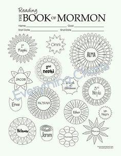 Book of Mormon Reading Chart - LDS Gospel Source