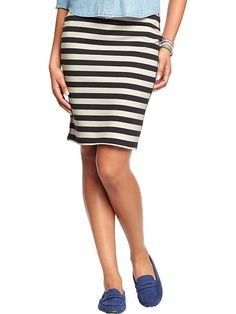 Women's Printed-Jersey Pencil Skirts Product Image