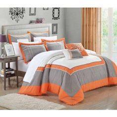 Palace 7-Piece Comforter Set, Orange